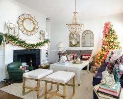 christmas tour 2016 living room and dining room the chronicles classic christmas living room with green red and a fantastic flower tree you will