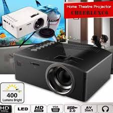 home theater projector 1080p unic uc18 hd 400lm 1080p mini led projector multimedia cinema usb