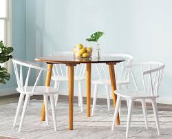 tms florence 5 piece oak dining set u0026 reviews wayfair