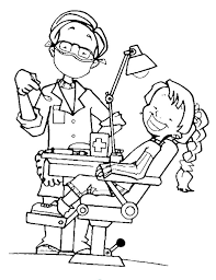 attractive dentist coloring pages printables 2