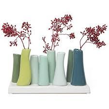 amazon com chive pooley 2 unique ceramic flower vase low