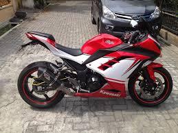 kawasaki ninja 250 fi merah putih simple modification modifikasi