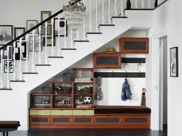 furniture beautiful design under stair storage shelves ideas for stair shelves exploit the dead space under staircases by converting it into a u