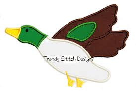 Mallard Duck Home Decor Mallard Duck Applique Machine Embroidery Design Instant