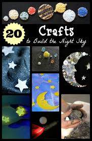 20 space themed crafts with children night skies solar system