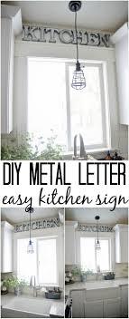 diy kitchen decorating ideas diy metal letter industrial kitchen sign liz