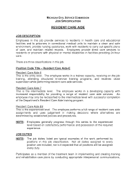Home Health Care Job Description For Resume by 100 Sample Resume For Home Health Aide Sample Care Plan For
