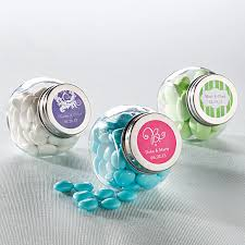 jar favors candy jar favor with personalized label wedding favors