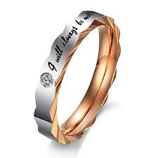 wedding rings for couples konov stainless steel i will always be with you couples