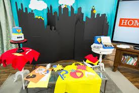 Superhero Backdrop How To Diy Superhero Birthday Party Home U0026 Family Hallmark