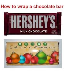 to wrap a chocolate bar with personalized candy wrappers