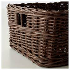 gabbig basket dark brown 25x29x15 cm ikea