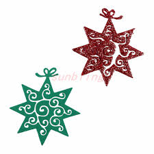 christmas flower cutting dies stencil for painting diy