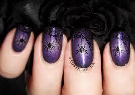 purple halloween nail designs