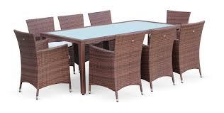 canapé jardin résine awesome grande table de jardin resine tressee contemporary design