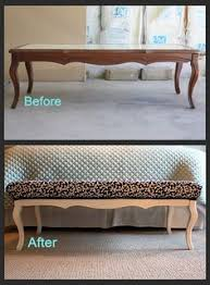 Diy Storage Ottoman Coffee Table How To Turn Your Old Coffee Table Into A Stylish Ottoman Photo