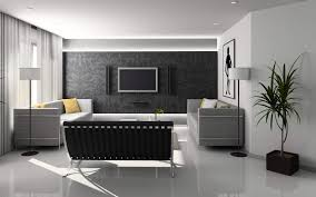 ideas for home decoration living room with classic wallpaper black