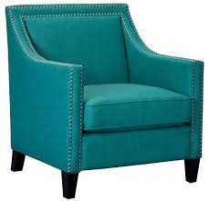 Aqua Accent Chair Erica Accent Chair Chrome Nails Teal Aqua La Hacienda