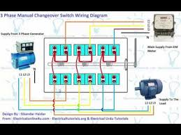 3 phase manual changeover switch wiring diagram generator