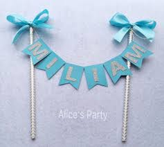 aliexpress com buy personalized new boy name cake topper bunting