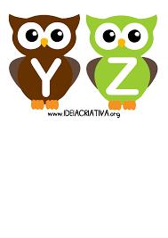 alfabeto letra bastão corujinhas colegio pinterest owl