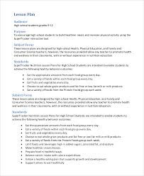 health lesson plan self assessment lesson plan 49 examples of