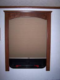 rv window treatments using fine finished wood window treatments