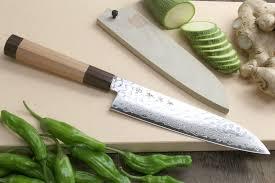 yoshihiro vg 10 46 layers hammered damascus santoku knife japanese