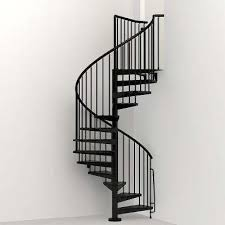 Spiral Staircase Handrail Covers Civik 63 In Black Spiral Staircase Kit Alyssa U0027s Place