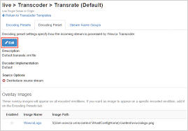 set up and run wowza transcoder for live streaming