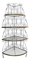 Outdoor Bakers Rack Wrought Iron Vintage French Country White Wrought Iron U0026 Brass Corner Bakers