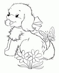 coloring pages of puppies and kittens az coloring pages in cute