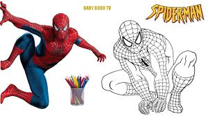 spiderman coloring book coloring pages kids