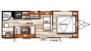 Rear Kitchen Rv Floor Plans 2018 Forest River Salem Cruise Lite 241qbxl Model