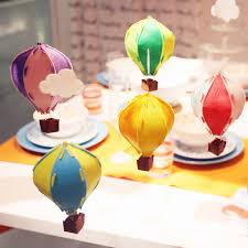 5pcs lot diy 3d air balloon felt cloth balloon ornaments