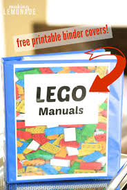 how to organize lego manuals free lego printables making