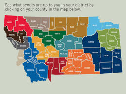 Montana County Map by Montana Council Boy Scouts Of America