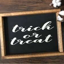 halloween decor halloween decorations trick or treat sign