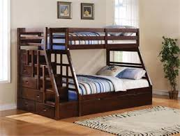 Bunk Bed With Stairs And Trundle Bedroom Fabulous Jason Collection Twin Over Full Bunk Bed W