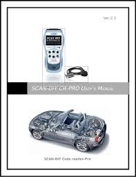scan diy cr pro user u0027s manual