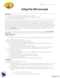 compound light microscope function microscope biology lab handout docsity