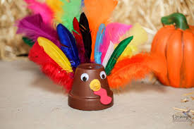clay pot turkey craft for kids great last minute thanksgiving craft