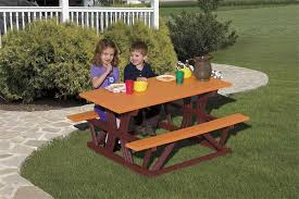 kids outdoor picnic table amish polywood childs picnic table 135 regarding childrens outdoor