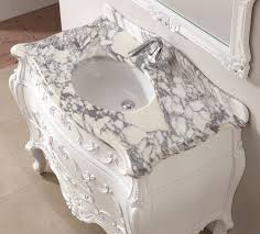 Marble Bathroom Vanity Tops by Art Antique 47 Inch Single Sink Bathroom Vanity Natural Marble Top