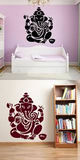 Elephant Decor For Living Room by Wall Art Mural Ganesha Indian God Mythology Cool Bedroom Decal
