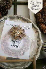 diy pine cone flower country design style