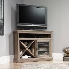 sauder bookcase with glass doors sauder barrister lane corner entertainment stand for tvs up to 42