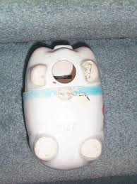 keepsake piggy bank vintage ceramic pottery pig planter piggy bank all in one baby