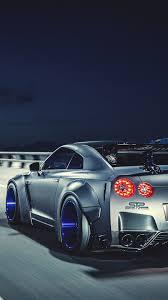 blue nissan gtr wallpaper liberty walk nissan gtr highly modified street racer iphone 6 plus