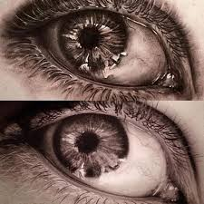 cool and 3d eye made by artist